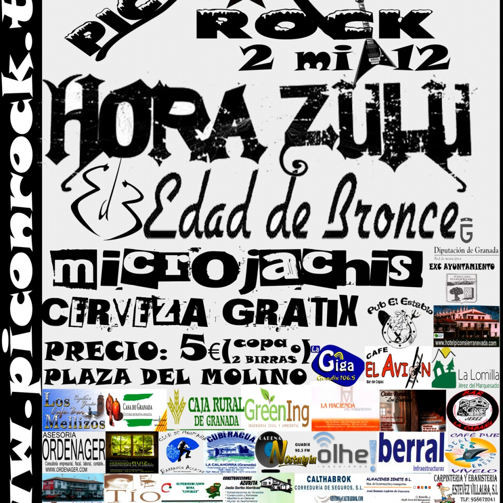 Cartel Piconrock 2012