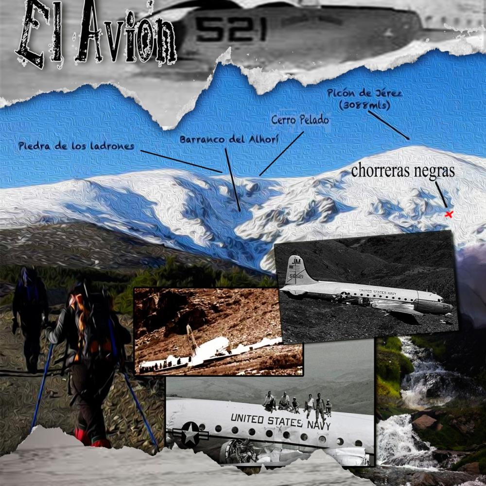 Cartel Subida Solidaria El Avión