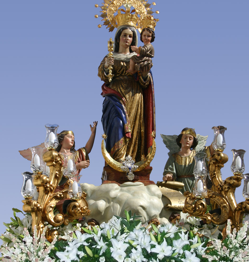 Montaje Virgen  «La Tizná»