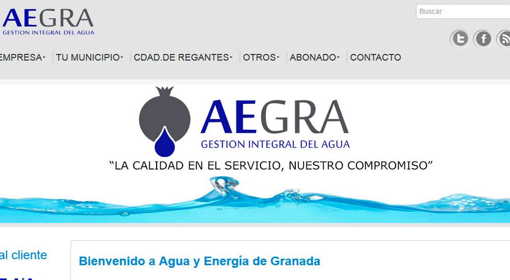 Página web de Aegra S.L