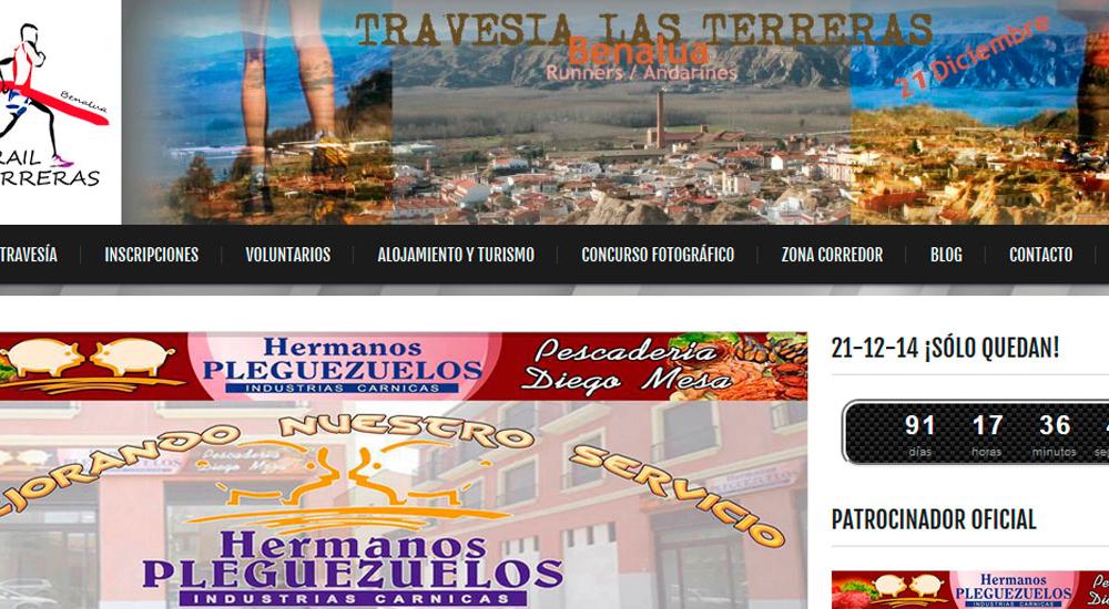 Página web de Travesía las Terreras