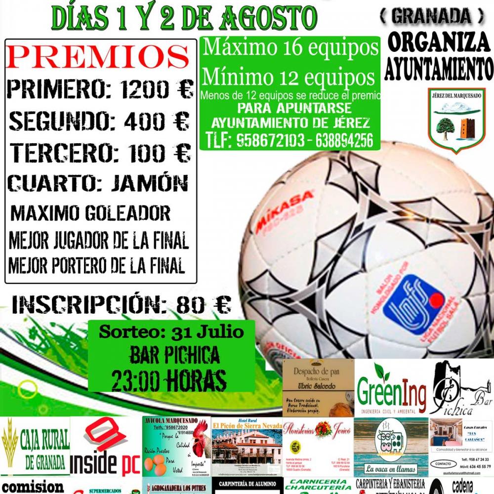 Cartel 24 horas de futbol sala
